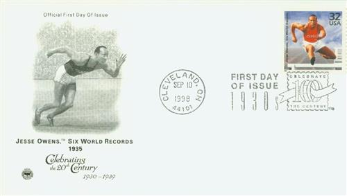 U.S. #3185j FDC – Owens First Day Cover with pictorial postmark.
