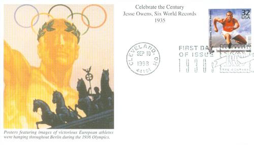U.S. #3185j – 1998 Owens First Day Cover.