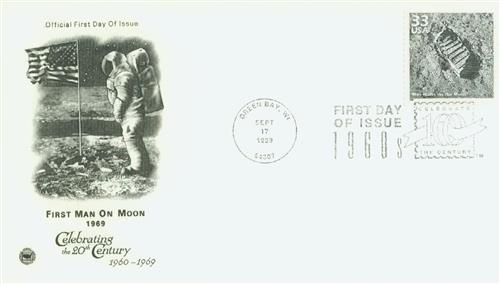1999 33c Celebrate the Century - 1960s: Man Walks on Moon