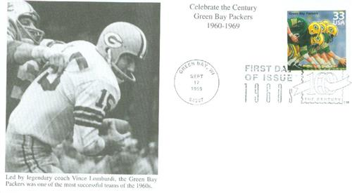 1999 33c Celebrate the Century - 1960s: Green Bay Packers