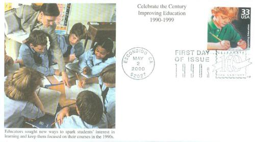 2000 33c Celebrate the Century - 1990s: Improving Education