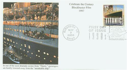 2000 33c Celebrate the Century - 1990s: 'Titanic'