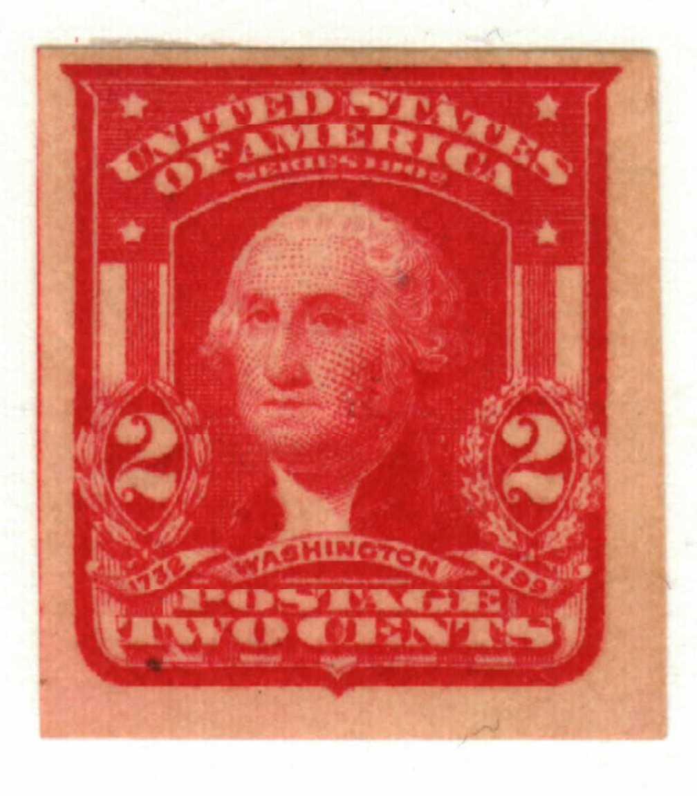 1906 2c Washington, carmine, imperforate