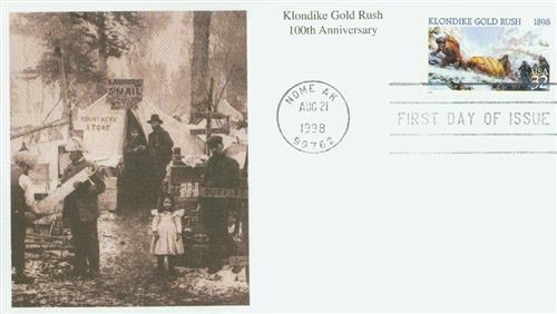 1998 32c Klondike Gold Rush