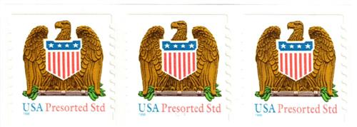 1998 10c Eagle and Shield, 9.9 vertical