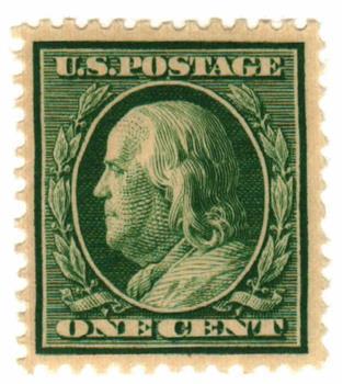 1908 1c Franklin, double line watermark