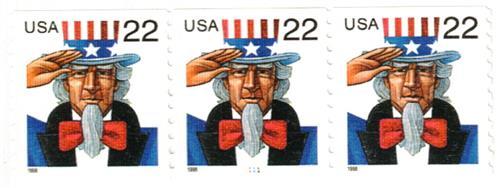 1999 22c Uncle Sam, coil