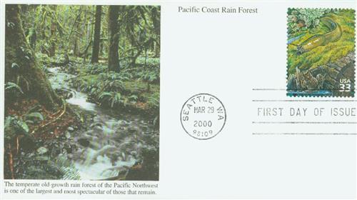 2000 33c Foliose lichen, banana slug s/a