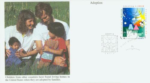 2000 33c Adoption, s/a
