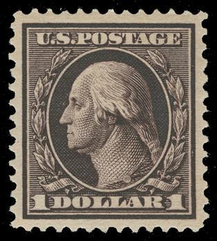 1909 $1 Washington, violet brown