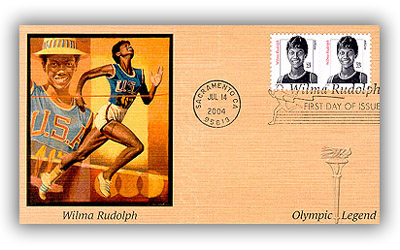 2004 23c Distinguished Americans: Wilma Rudolph