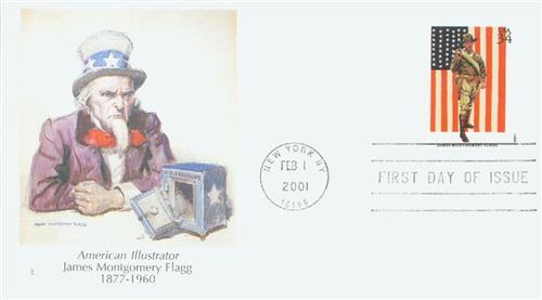 2001 34c American Illustrator J. M. Flagg