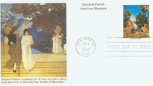 2001 34c American Illustrator M. Parrish
