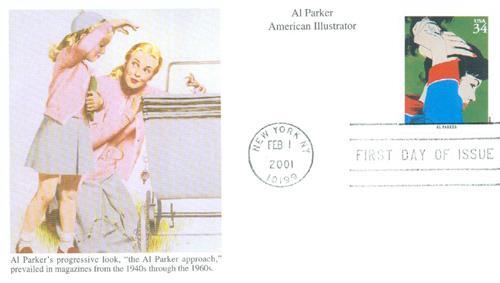 2001 34c American Illustrator Al Parker