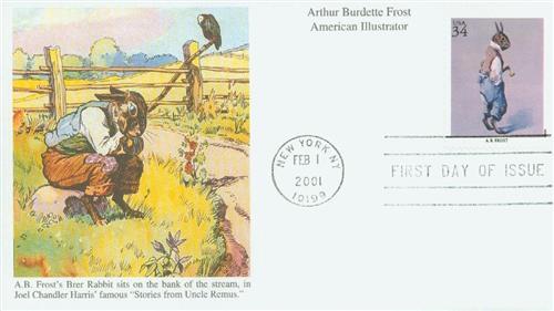 2001 34c American Illustrator A.B. Frost