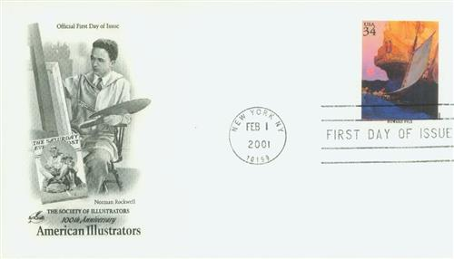 2001 34c American Illustrator Howard Pyle