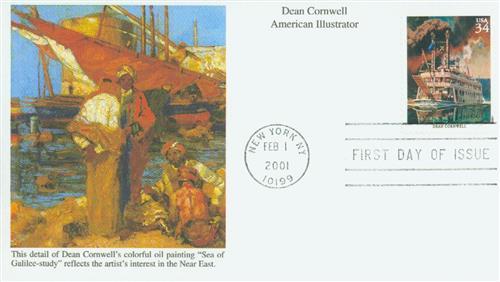 2001 34c American Illustrator Dean Cornwell