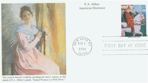 2001 34c American Illustrator E.A. Abbey