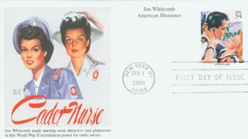 2001 34c American Illustrator Jon Whitcomb