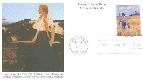 2001 34c American Illustrator Harvey Dunn