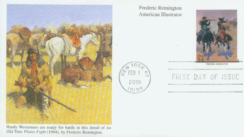 2001 34c American Illustrator F. Remington