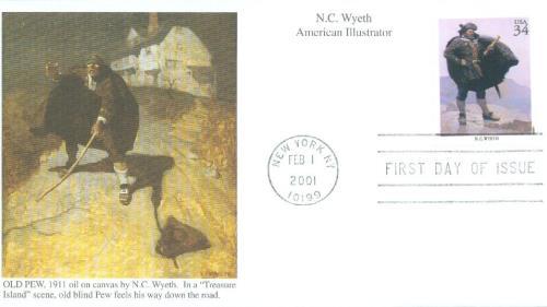 2004 34c American Illustrator N. C. Wyeth
