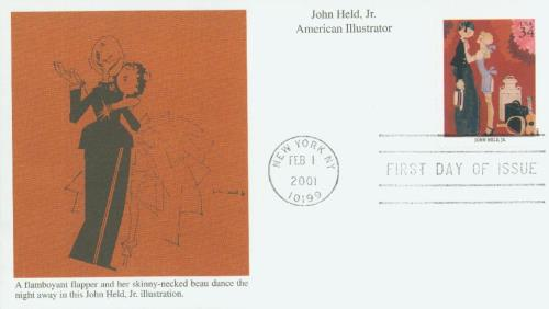 2001 34c American Illustrator John Held, Jr.