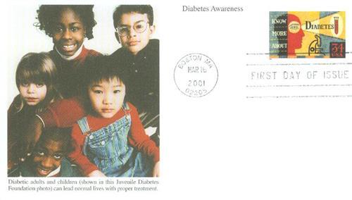 2001 34c Diabetes Awareness