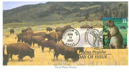 2001 34c Great Plains Prairie: Black-tailed Prairie Dog