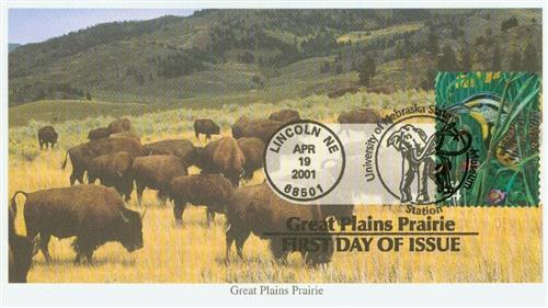 2001 34c Great Plains Prairie: Weastern Meadowlark