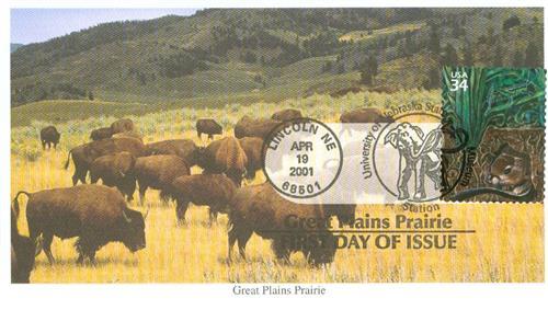 2001 34c Great Plains Prairie: Grasshopper and Kangaroo Rat