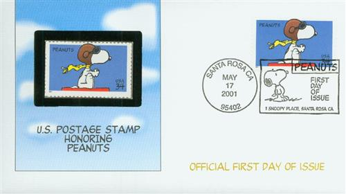U.S. #3507 FDC – 2001 Peanuts First Day Cover.