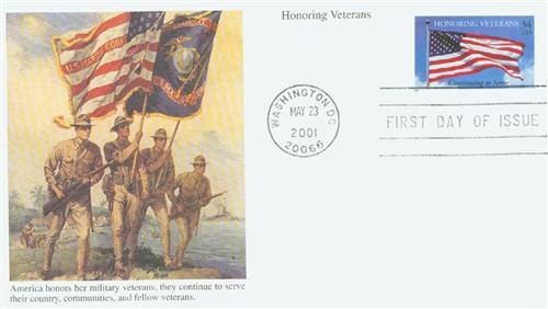 2001 34c Honoring Veterans
