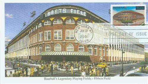2001 34c Legendary Baseball Fields: Ebbets Field