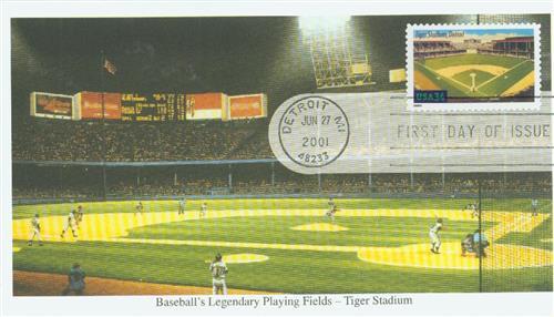 2001 34c Legendary Baseball Fields: Tiger Stadium