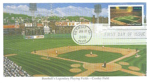 2001 34c Legendary Baseball Fields: Crosley Field