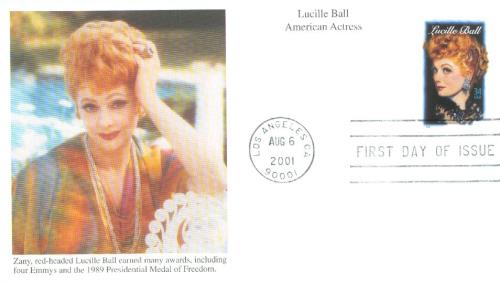 2001 34c Legends of Hollywood: Lucille Ball