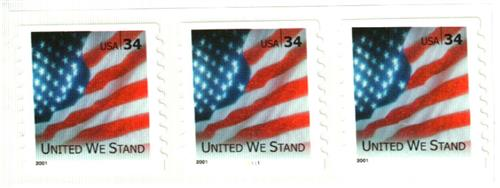 2001 34c United We Stand, self-adhesive coil