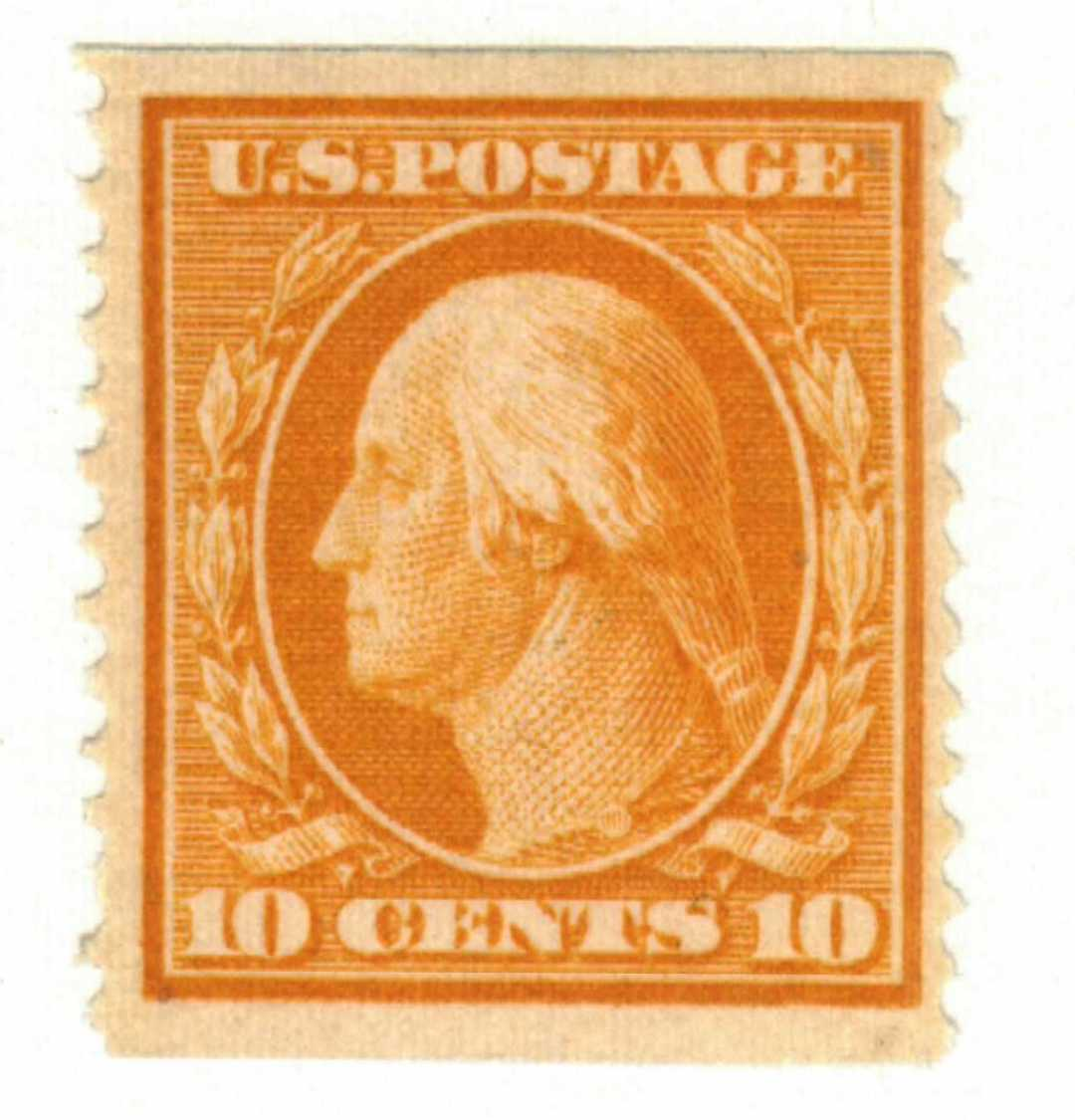 1909 10c Washington, yellow