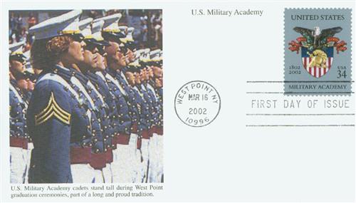 2002 34c US Military Acad. Bicentennial