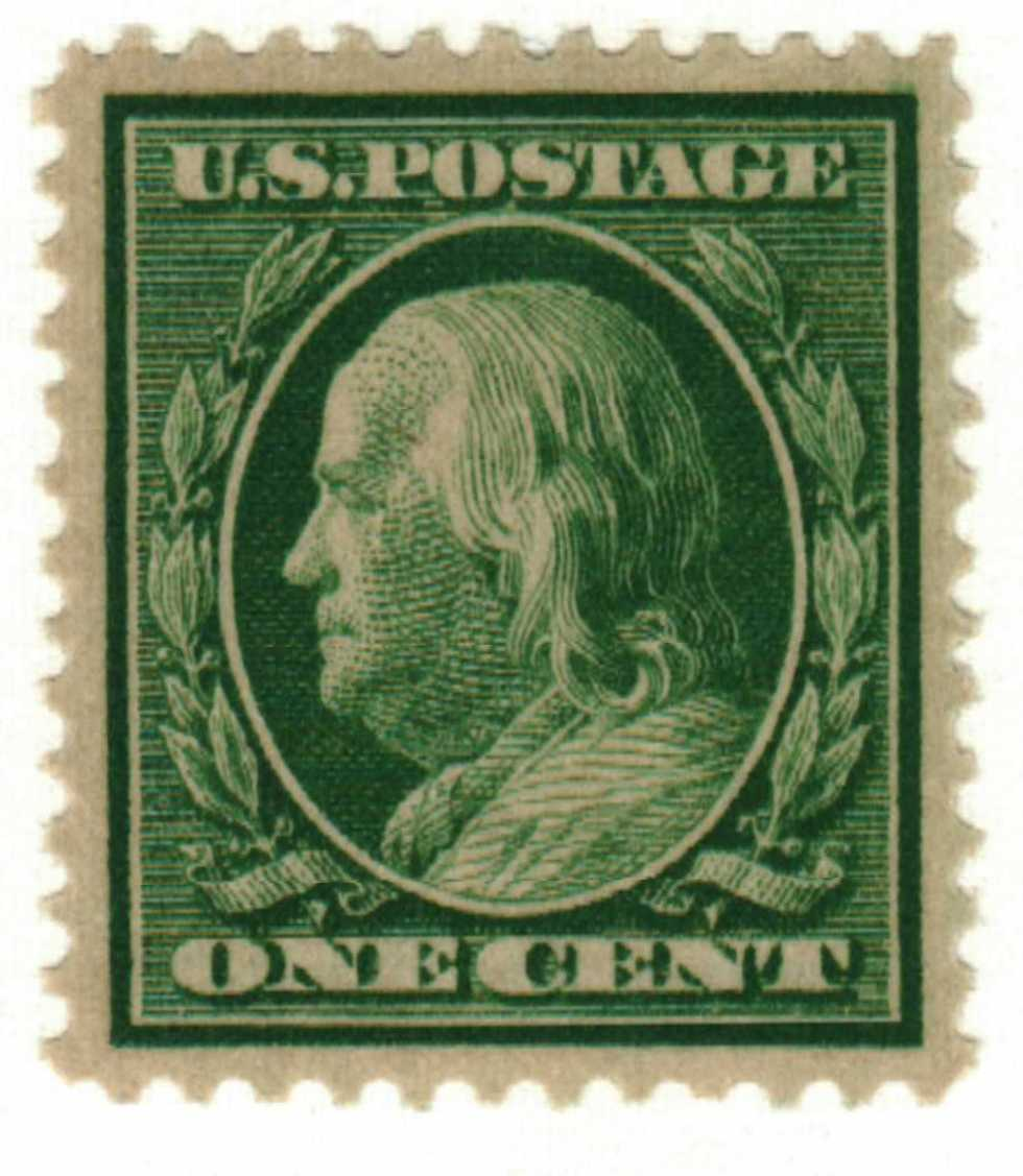 1909 1c Franklin Green For Sale At Mystic Stamp Company
