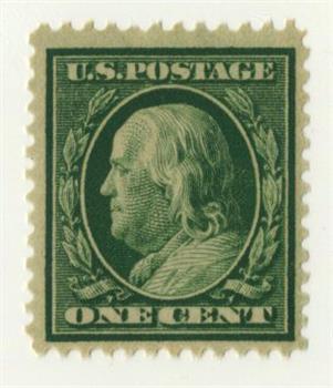 1909 1c Franklin, green