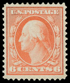 1909 6c Washington, red orange