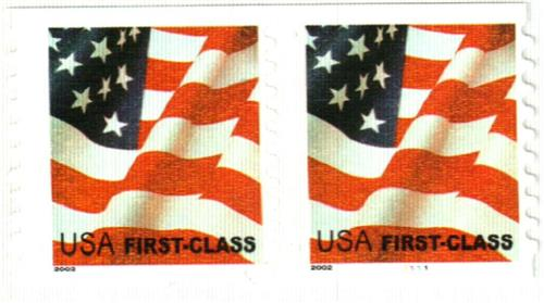 2002 37c Flag Non Denominated Coil Stamp For Sale At Mystic