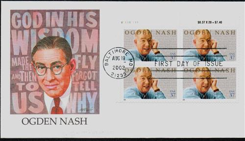 Nash Fleetwood plate Block First Day Cover