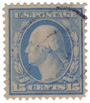 1909 15c Washington, ultramarine, perf 12
