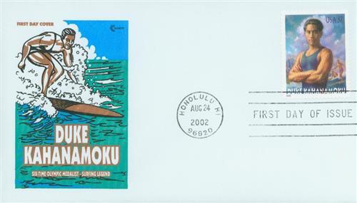 2002 37¢ Duke Kahanamoku Classic First Day Cover