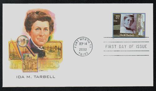 U.S. #3666 FDC – 2002 Ida Tarbell First Day Cover.