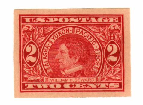 1909 2c Seward, carmine, imperforate