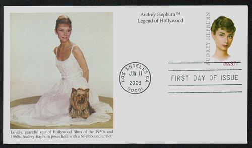 2003 37c Legends of Hollywood: Audrey Hepburn